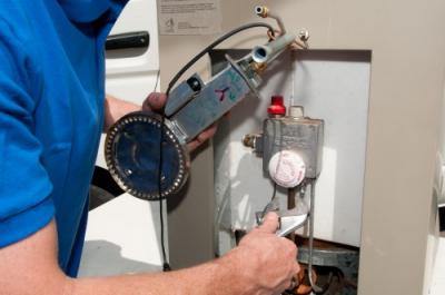 Dean is one of our Ceres water heater repair experts, working on an unit repair